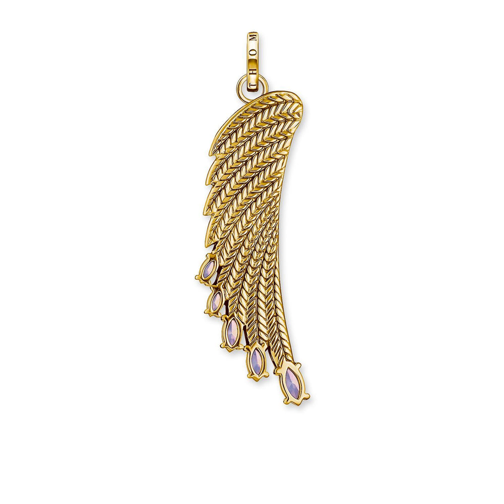Pendant Bright Gold-coloured Hummingbird Wing | Thomas Sabo