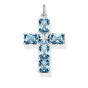Sterling Silver Blue Stones Pendant with Star | Thomas Sabo