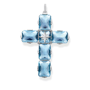 Sterling Silver Large Blue Stones Pendant with Star | Thomas Sabo