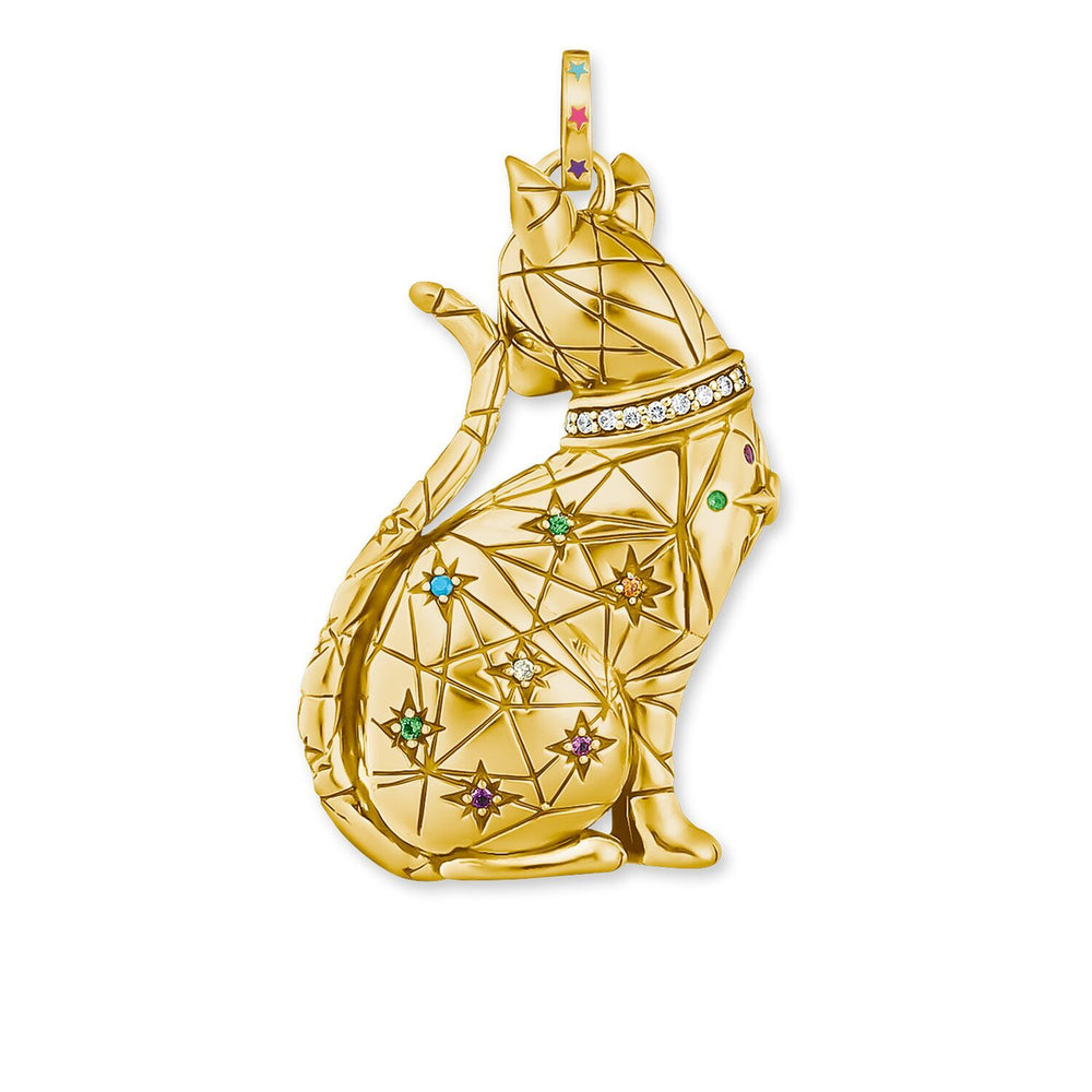 Pendant Cat Constellation Gold | Thomas Sabo