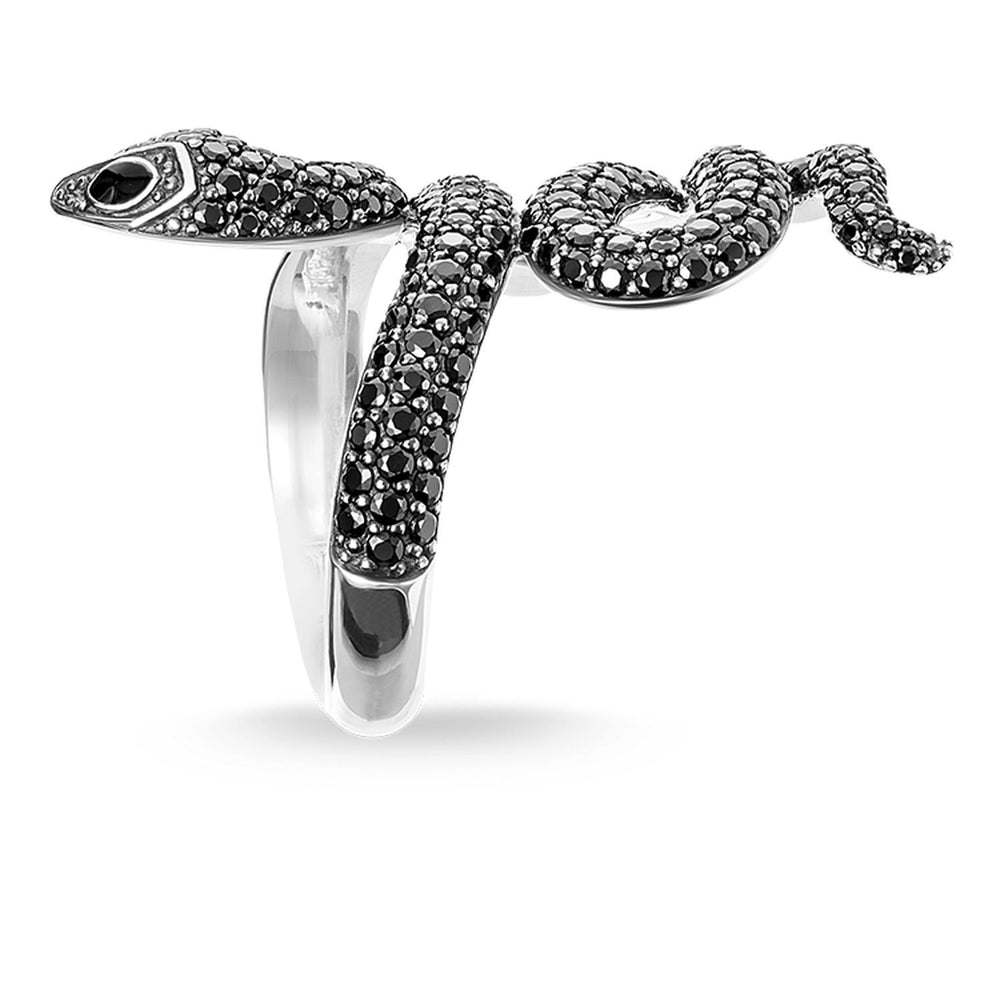 "THOMAS SABO Ring ""Black Snake Pavé"""