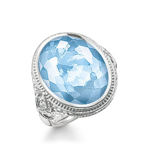 Sterling Silver Light Blue Stone Cocktail Ring | Thomas Sabo