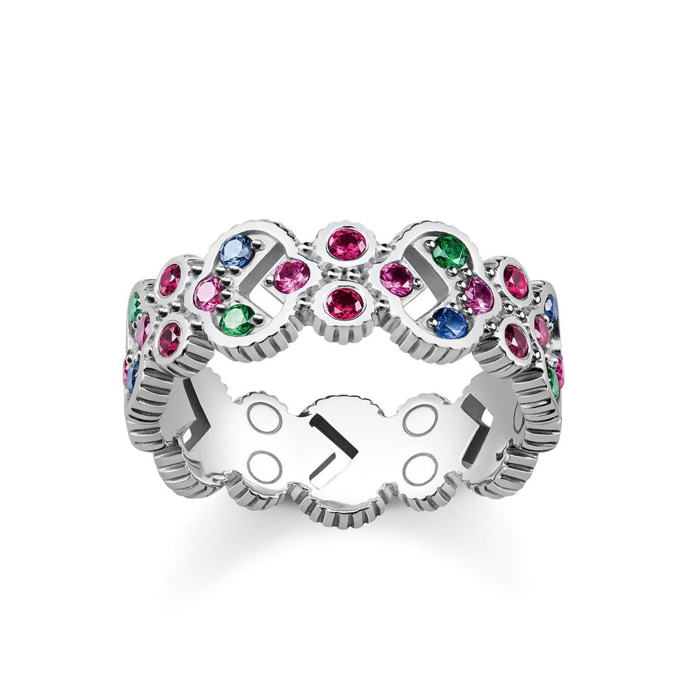 "THOMAS SABO Ring ""Royalty Colourful Stones"""