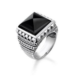 THOMAS SABO Ring Ethnic Skulls Black