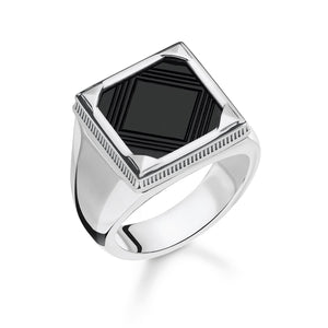 Sterling Silver Square Black Onyx Ring | Thomas Sabo