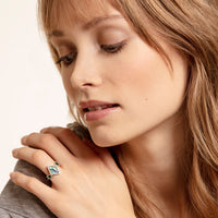 THOMAS SABO Ring Zig Zag Abalone Mother-of-pearl