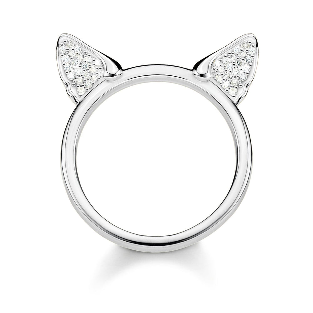 Ring In Kaars.Ring Cat S Ears Silver 051 Thomas Sabo Australia