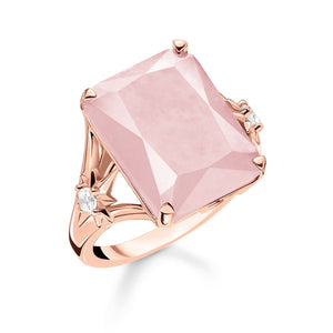 Rose Quartz Ring | Pink Stone Cocktail Ring | Thomas Sabo