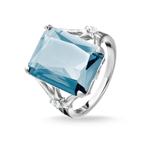 Large Blue Stone Ring, With Star | Thomas Sabo