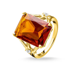 Ring Orange Stone, Large, With Star | Thomas Sabo