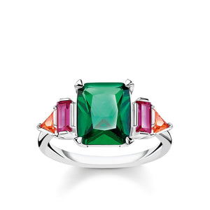 Sterling Silver Colourful Stones Ring | Thomas Sabo