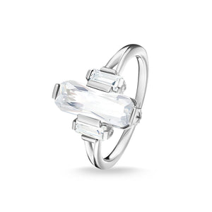 Sterling Silver White Stones Ring | Thomas Sabo