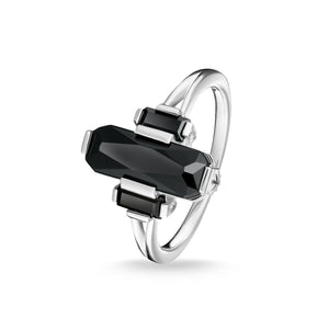 Sterling Silver Black Stones Ring | Thomas Sabo
