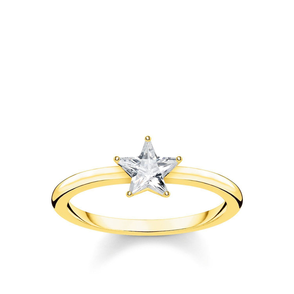 Sparkling Star Gold Ring | Thomas Sabo