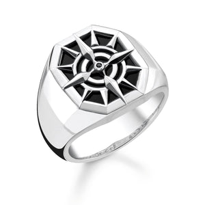Ring Compass Black | Thomas Sabo