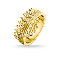 Ring Leaves Crown Gold | Thomas Sabo