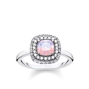 Ring Shimmering Pink Opal Colour Effect | Thomas Sabo