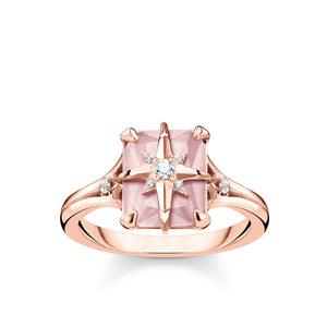 Ring Pink Stone With Star