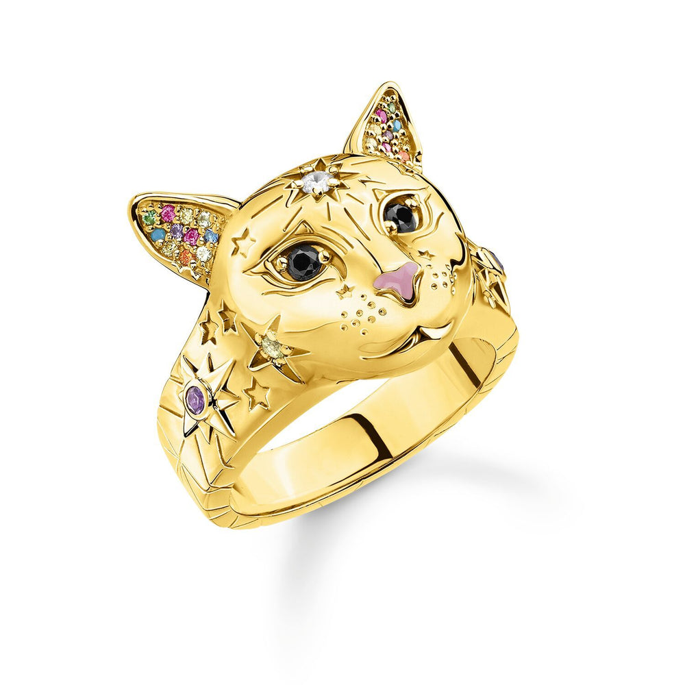 Ring Cat Gold | Thomas Sabo