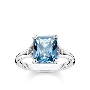 Ring: Thomas Sabo Ring Blue Stone