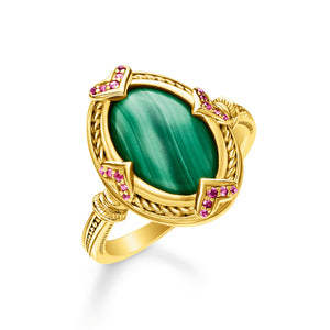 Ring: Ring Green Stone | Thomas Sabo Australia