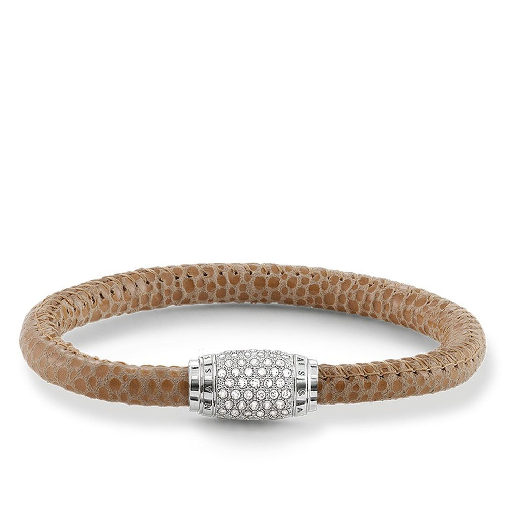 "Thomas Sabo Leather Strap ""Brown Pavé"""