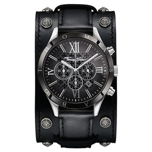 Rebel Icon Men's Watch - Black Leather Bracelet | Thomas Sabo