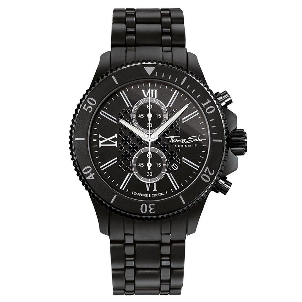"THOMAS SABO Men's Watch ""REBEL MATT CERAMIC"""