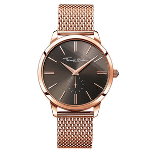 Rebel Spirit Men's Watch in Brown & Rose Gold | Thomas Sabo