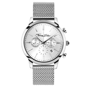 Rebel Spirit Chronograph Men's Watch - Stainless Steel Mesh Band | Thomas Sabo