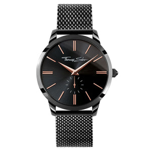 Rebel Spirit Men's Watch with Black Face & Mesh Band | Thomas Sabo