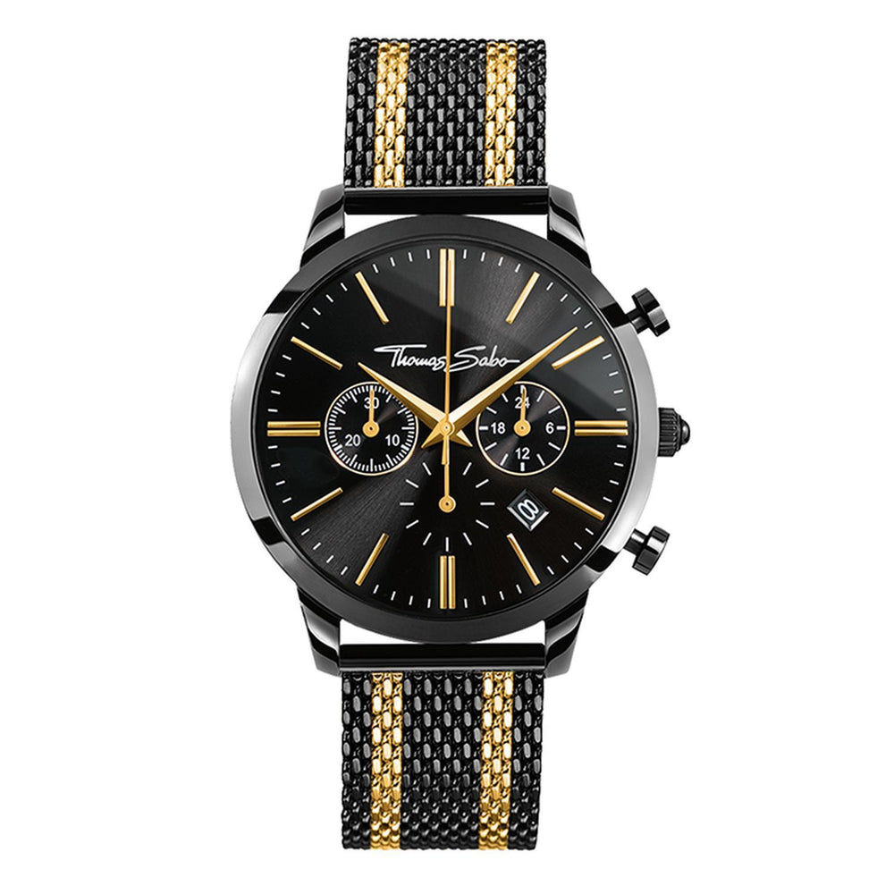 Rebel Spirit Chronograph Men's Watch in Gold & Black | Thomas Sabo