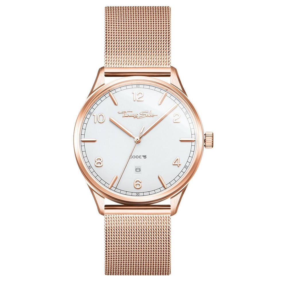 "THOMAS SABO Watch Unisex ""Code TS Rose Gold"""