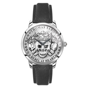 Men's Watch Rebel Spirit 3D Skulls, Silver | Thomas Sabo