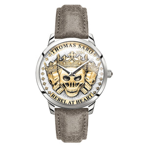 Men's Watch Rebel Spirit 3D Skulls, Gold | Thomas Sabo
