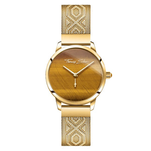 Women's Watch Garden Spirit Tiger's Eye Gold | Thomas Sabo