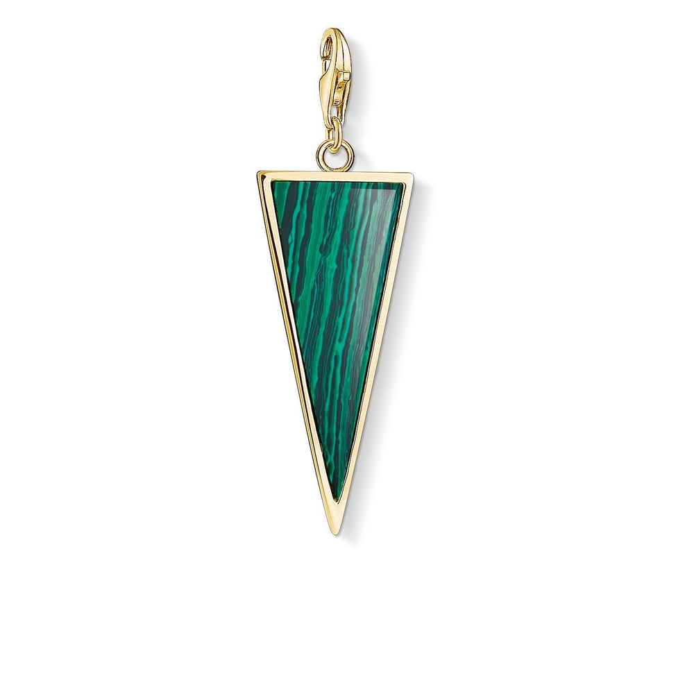 "Charm Pendant ""Green Triangle"""