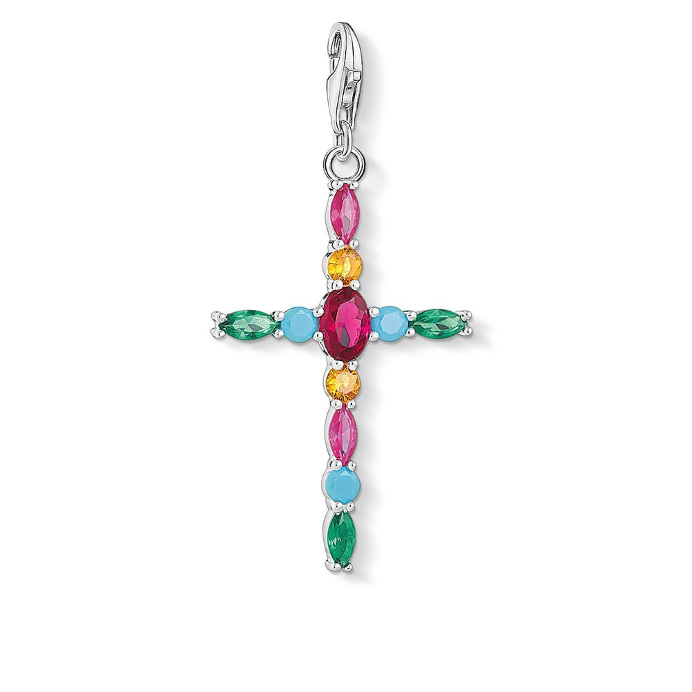 "Charm Pendant ""Cross Colourful"""