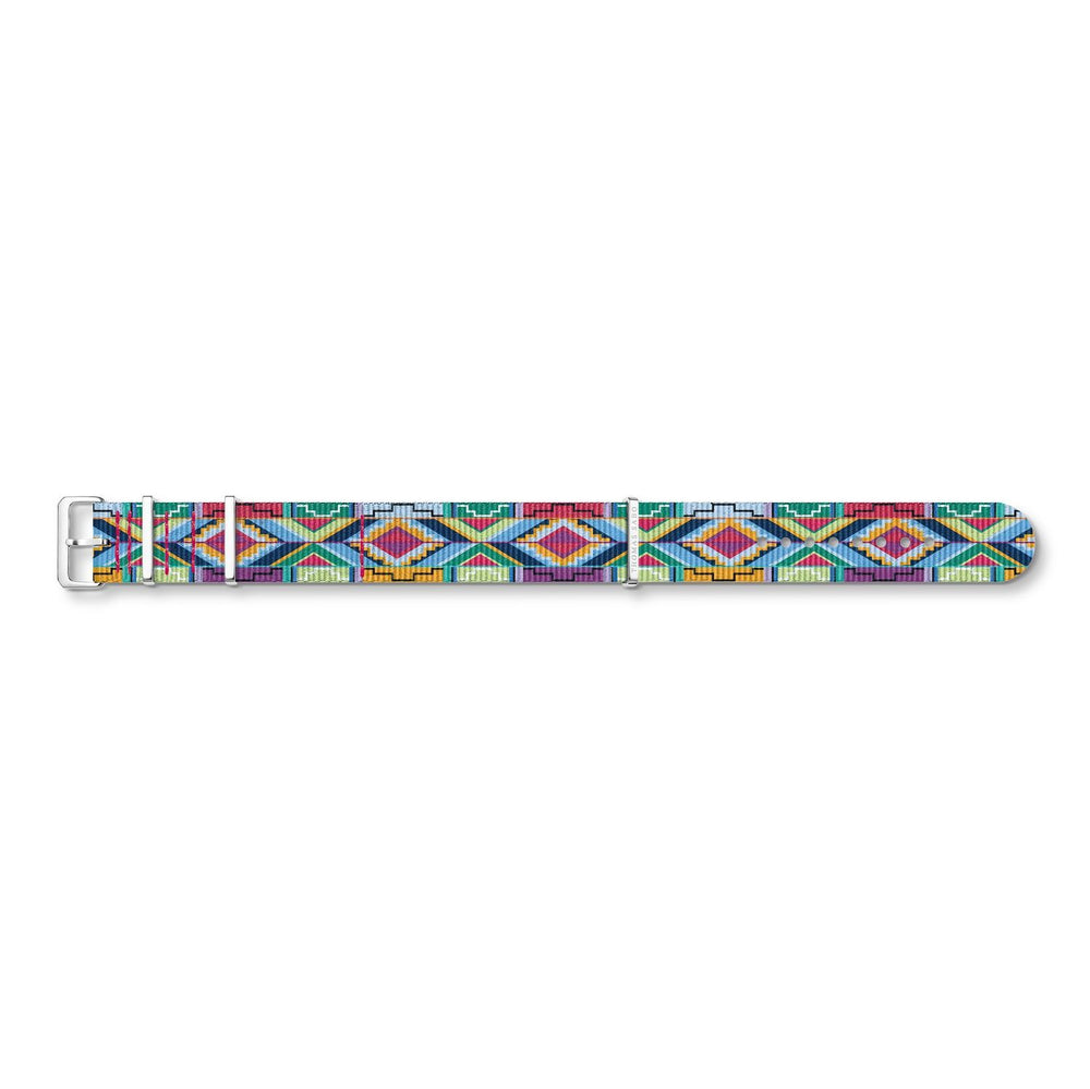 "THOMAS SABO Watch Strap ""Code TS Nato Coloured Graphic Patterns"