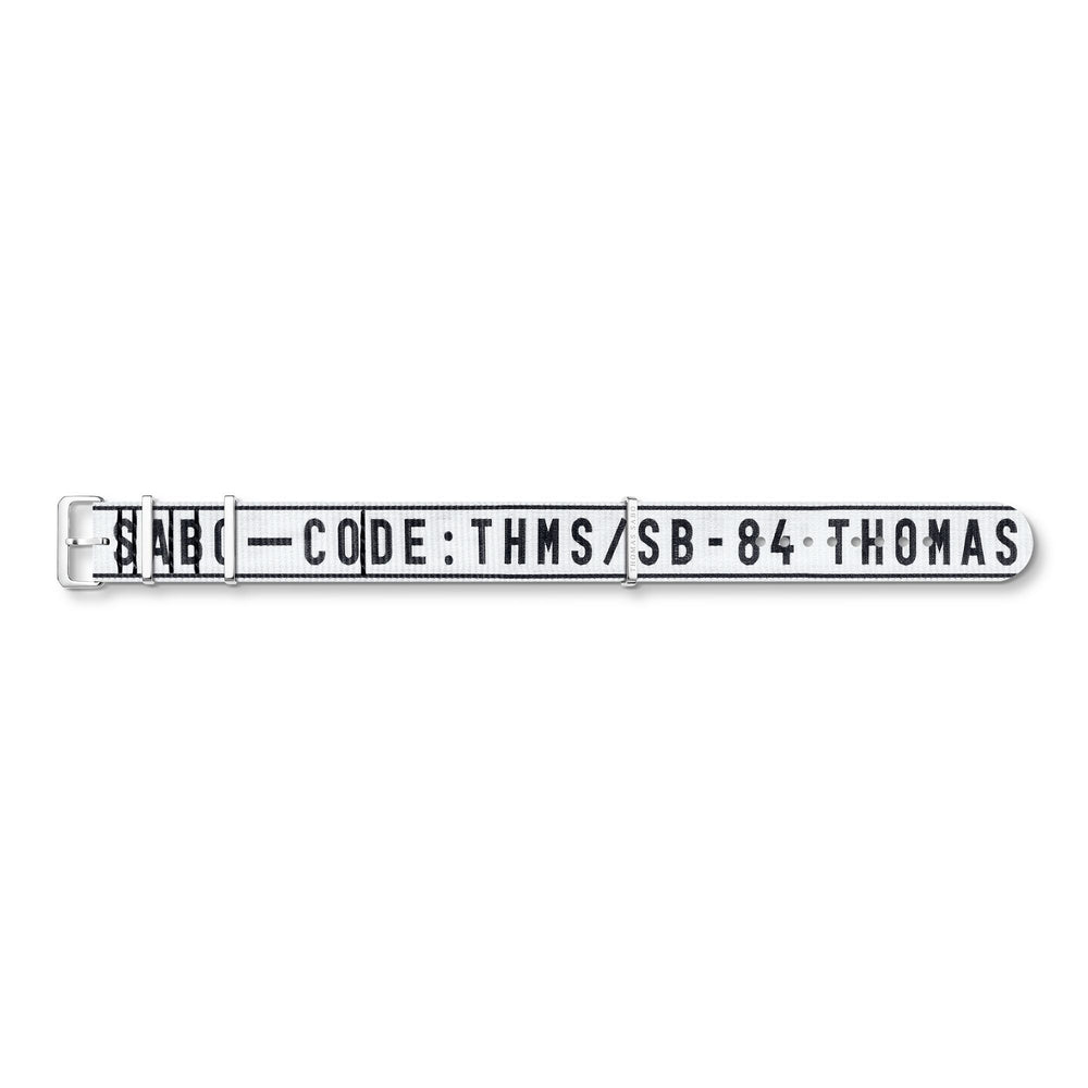 Watch Band Urban CODE TS NATO, White | Thomas Sabo