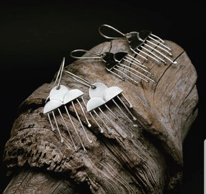 Prayer for Rain // Silver Raincloud Earrings