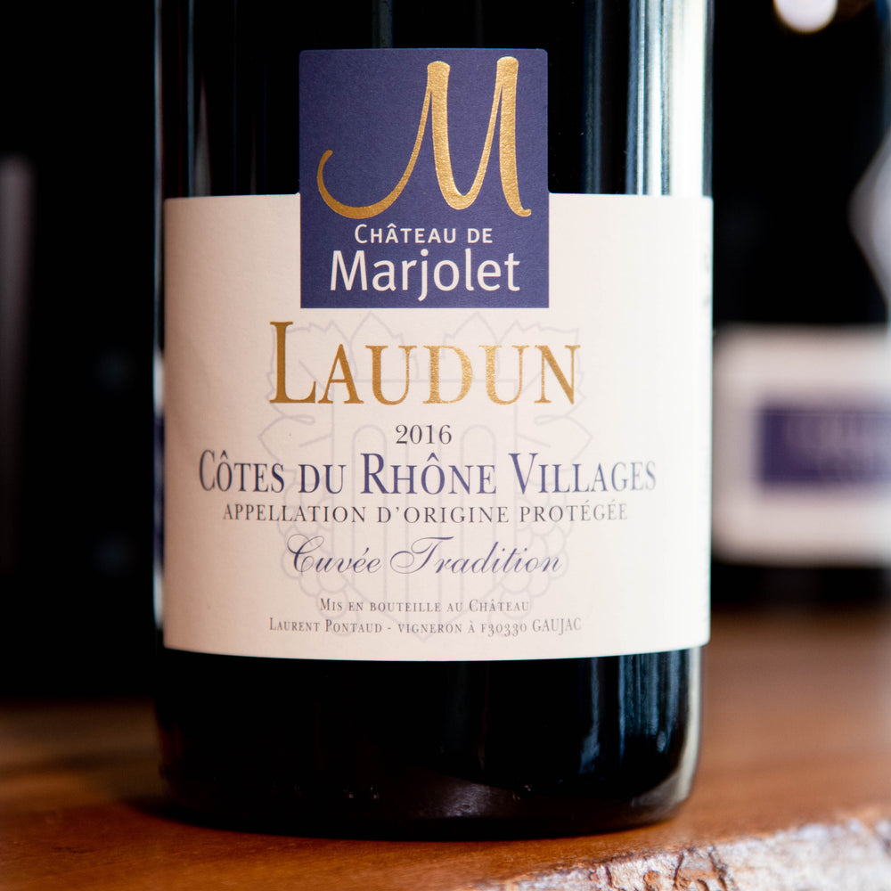 Load image into Gallery viewer, Marjolet Côtes du Rhône Villages Laudun « Cuvée Tradition » - 2018