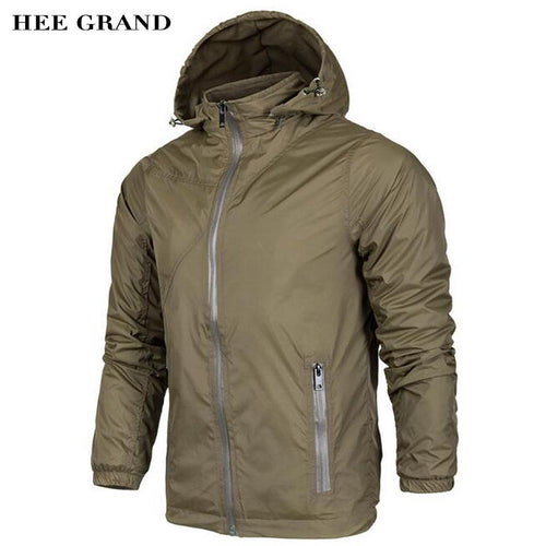 HEE GRAND Men's Jacket Spring Autumn Thin Coat Casual Waterproof Double Layer Outwear For Men High Quality Size M-4XL MWJ2308