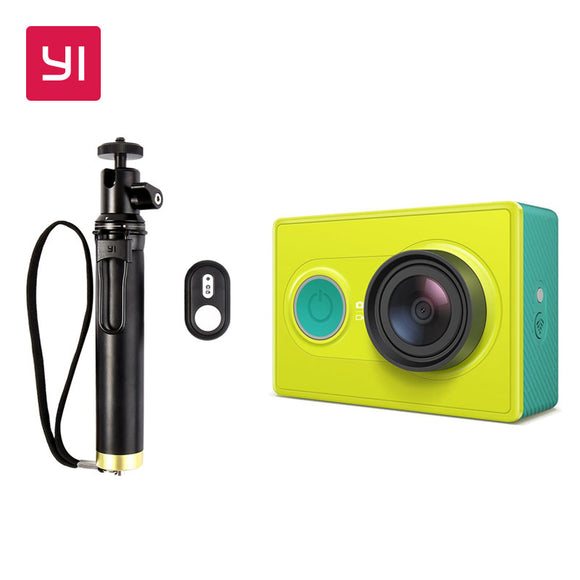 YI Action Camera Lime Green 1080P High-definition 16.0MP 155 Degree Angle 3D Noise Reduction International Edition
