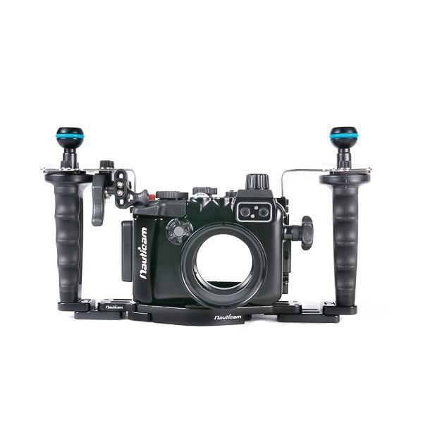 Nauticam NA-LX10 Pro Package (Inc. flexitray, right handle, two mounting balls, M14 vacuum valve, shutter extension)