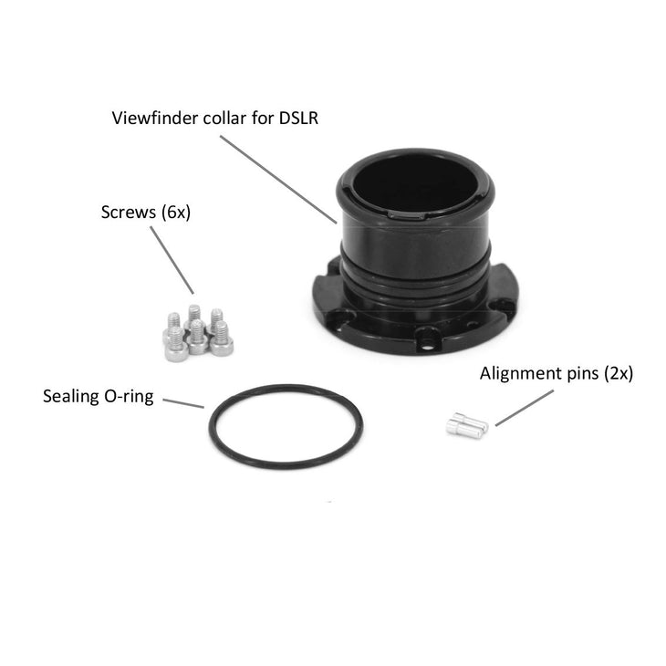 Viewfinder Collar Adaptor for 32204 (from A153408) and 32205 (from A153664) to Use on DSLR housing