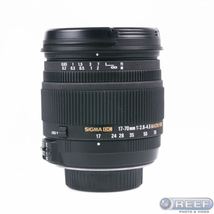 cp.1475 Used Sigma 17-70mm F/2.8-4 DC Macro OS HSM Lens for Nikon