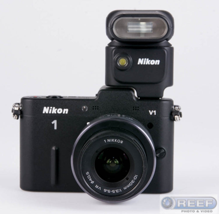 cp.1832 Used Nikon V1 Camera with 10-30mm Lens f/3.5-5.6, Black (No Charger)