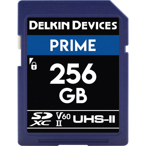 Delkin Devices 256GB Prime UHS-II SDXC Memory Card 1900X V60
