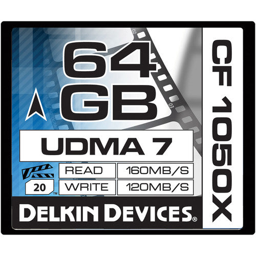 Delkin Devices 64GB Prime CF 1050X Compact Flash Memory Card UDMA 7